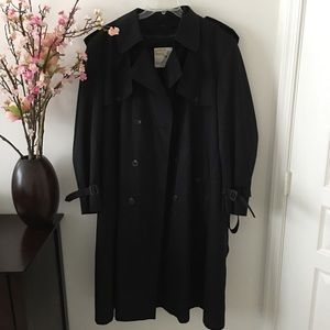 London Towne Black Trench w/Warm Liner Size 46R
